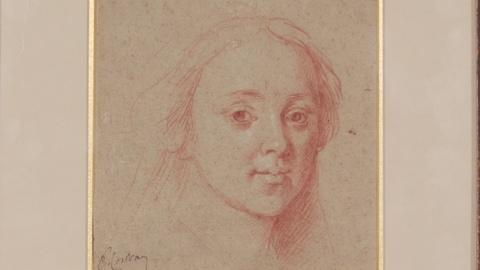 Antiques Roadshow -- S19: Web Appraisal: Red & White Chalk Drawing, ca. 1770