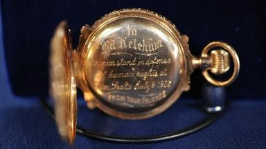 Appraisal: 1903 Presentation Box-Hinge Multicolor Gold Watch