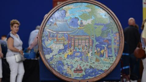 Antiques Roadshow -- S19 Ep5: Appraisal: Chinese Cloisonné Panel, ca. 1760
