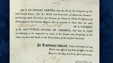 Appraisal: 1821 U.S. Citizenship Certificate