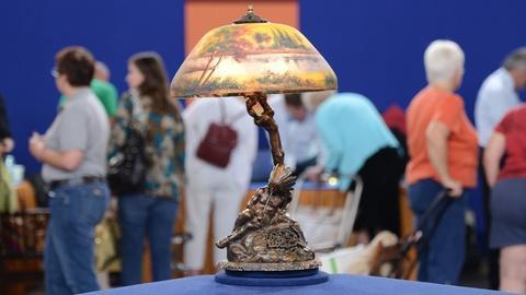 Antiques Roadshow -- S19 Ep6: Appraisal: Korff Bronze Lamp Base with Moe Bridges