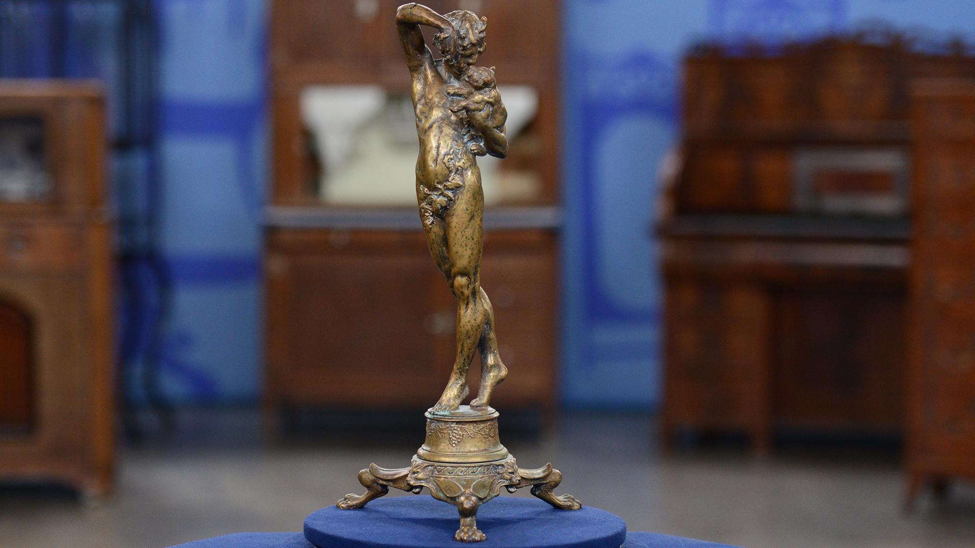 """Antiques Roadshow - Appraisal: 1915 Malvina Hoffman """"Boy and Panther Cub"""" - Twin Cities PBS"""