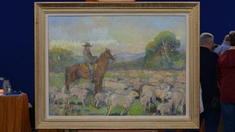 "Antiques Roadshow -- S19 Ep7: Appraisal: 1959 Minerva Teichert ""Cowboy with Sheep"