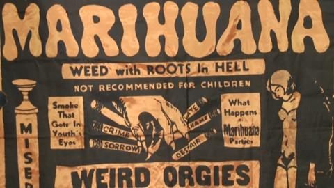 "Antiques Roadshow -- S19: Web Appraisal: 1936 ""Marihuana"" Movie Banner"