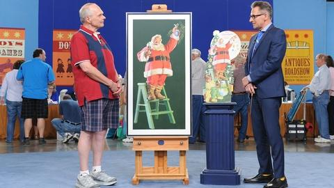 Antiques Roadshow -- S19 Ep9: Appraisal: Haddon Sundblom Santa Claus Oil & Ad
