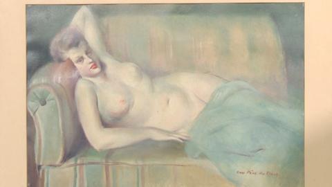 """Antiques Roadshow -- S19: Web Appraisal: Guy Pène du Bois, """"Reclining Nude"""" Oil"""