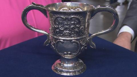 Antiques Roadshow -- S19 Ep11: Appraisal: English Silver Loving Cup, ca. 1750