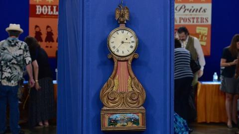 Antiques Roadshow -- S19 Ep12: Appraisal: John Sawin Lyre Banjo Clock, ca. 1825