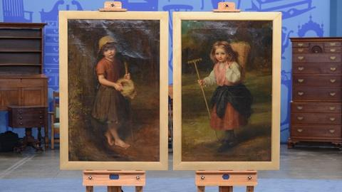 Antiques Roadshow -- S19 Ep12: Appraisal: 1887 Frank Bramley Oil Paintings