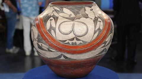 Antiques Roadshow -- S19 Ep13: Appraisal: Maynard Dixon-Owned Zia Olla, ca. 1920