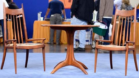 Antiques Roadshow -- S19 Ep13: Appraisal: 1969 Sam Maloof Chess Table & Chairs