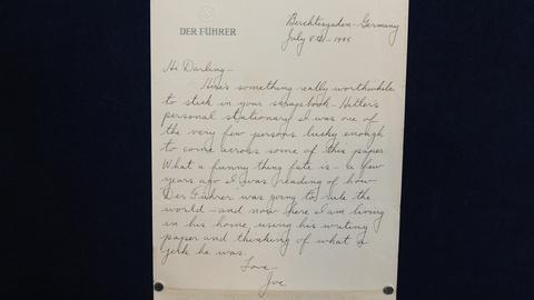 Antiques Roadshow -- S19 Ep14: Appraisal: 1945 G.I. Letter on Hitler's Stationery