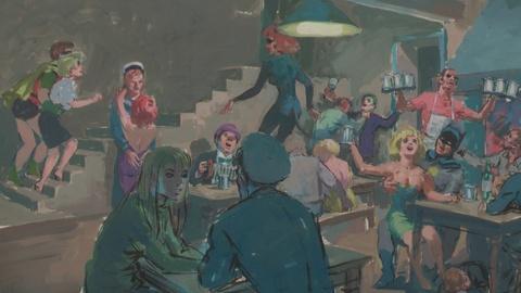 """Antiques Roadshow -- S19: Web Appraisal: Leslie Thomas """"Batman"""" Painting, ca. 196"""