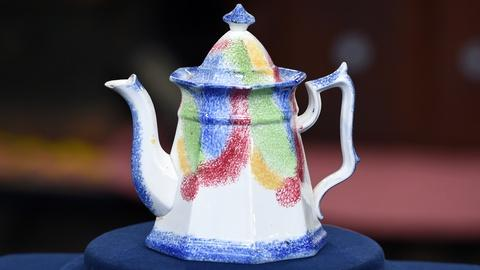 Antiques Roadshow -- S19 Ep17: Appraisal: British Rainbow Spatterware Pot, ca. 18