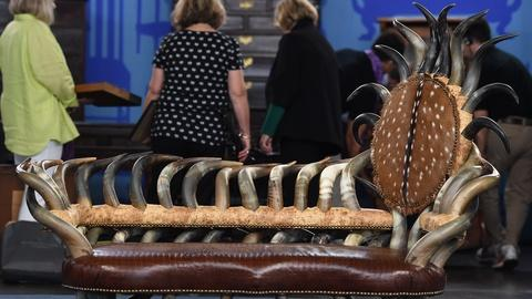 Antiques Roadshow -- S19 Ep17: Appraisal: Cow Horn Settee, ca. 1990
