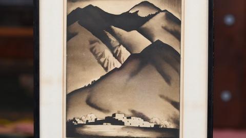 "Antiques Roadshow -- S19 Ep17: Appraisal: 1934 Gene Kloss ""Indian Pueblo"" Etching"