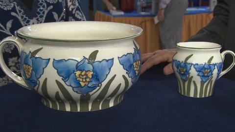 Antiques Roadshow -- S19 Ep17: Appraisal: Frederick Rhead Chamber Pot & Shaving M