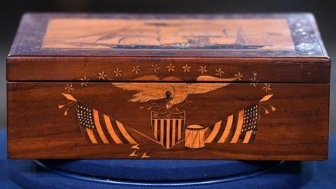 Antiques Roadshow -- S19 Ep18: Appraisal: Commemorative Marquetry Box, ca. 1850