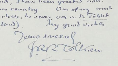 Antiques Roadshow -- S19 Ep18: Appraisal: 1957 J.R.R. Tolkien Letter