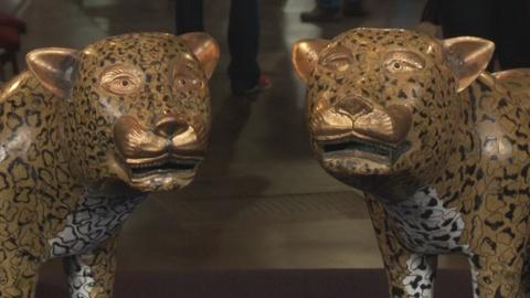 Antiques Roadshow -- S19: Web Appraisal: Chinese Cloisonné Cats, ca. 1920