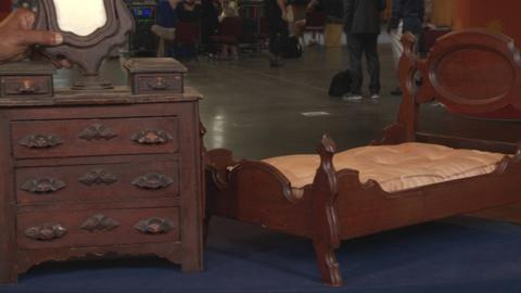 Antiques Roadshow -- S19: Web Appraisal: Miniature Dresser & Bed, ca. 1865