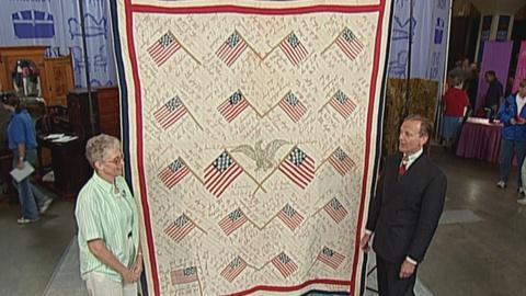 Antiques Roadshow -- S19 Ep27: Appraisal: 1896 Civil War Memorial Quilt