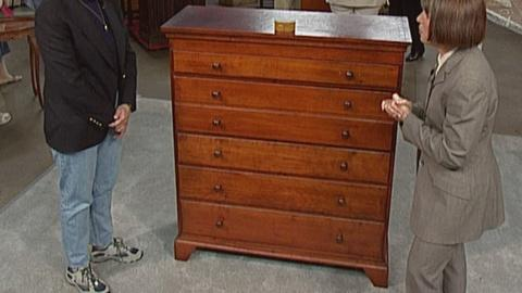 Antiques Roadshow -- S19 Ep27: Appraisal: Tall Chest & Shaker Box