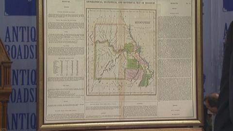 Antiques Roadshow -- S19 Ep25: Appraisal: 1822 Carey & Lea Missouri Map