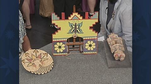 Antiques Roadshow -- S19 Ep31: Appraisal: Hopi Tray, Headdress & Doll