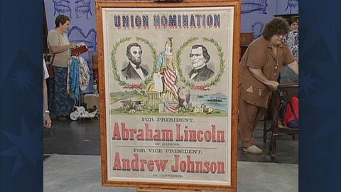 Antiques Roadshow -- S19 Ep31: Appraisal: 1864 Lincoln Campaign Poster