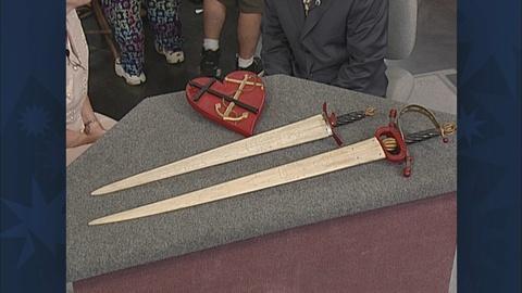 Antiques Roadshow -- S19 Ep31: Appraisal: Swordfish Swords & Plaque