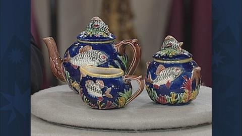 Antiques Roadshow -- S19 Ep31: Appraisal: English Majolica Tea Set, ca. 1875