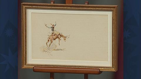 Antiques Roadshow -- S19 Ep28: Appraisal: 1924 Charles Russell Watercolor