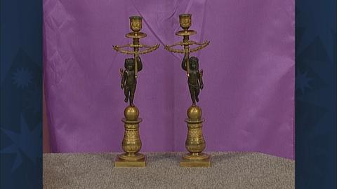 Antiques Roadshow -- S19 Ep28: Appraisal: Gilt Bronze Candlesticks, ca. 1810