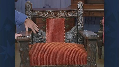 Antiques Roadshow -- S19 Ep28: Appraisal: Mission-Style Adirondack Rocker