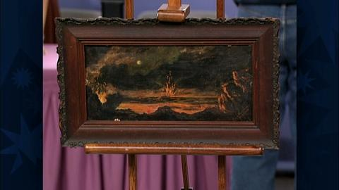 Antiques Roadshow -- S19 Ep29: Appraisal: 1909 Lella Grace Woodward Oil