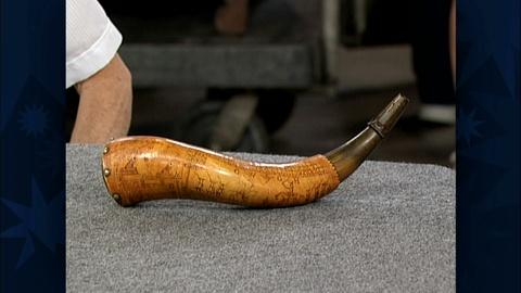 Antiques Roadshow -- S19 Ep29: Appraisal: Revolutionary War Powder Horn