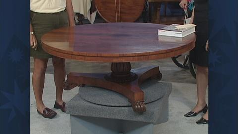 Antiques Roadshow -- S19 Ep30: Appraisal: Regency Rosewood Table, ca. 1820