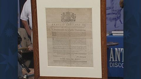 Antiques Roadshow -- S19 Ep26: Appraisal: 1763 Thanksgiving Broadside