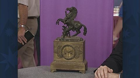 Antiques Roadshow -- S19 Ep26: Appraisal: French Bronze Clock, ca. 1820