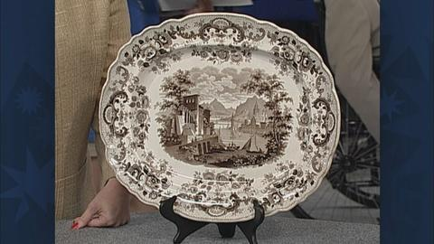 Antiques Roadshow -- S19 Ep26: Appraisal: Staffordshire Platter, ca. 1825