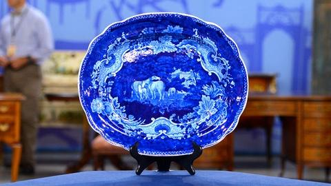 Antiques Roadshow -- S19 Ep19: Appraisal: Staffordshire Transferware Platter, ca.