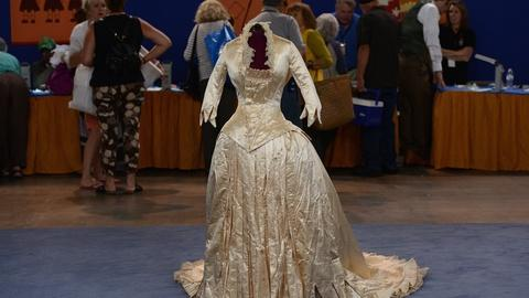 Antiques Roadshow -- S19 Ep19: Appraisal: Silk Wedding Gown, ca. 1875