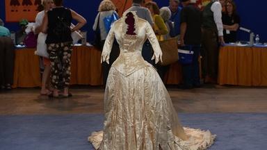 Appraisal: Silk Wedding Gown, ca. 1875