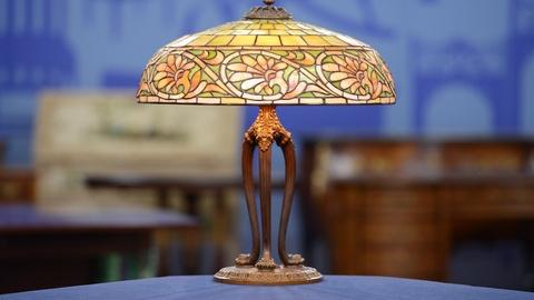 "Antiques Roadshow -- S19 Ep19: Appraisal: 1906 Duffner & Kimberly ""Greek"" Lamp"