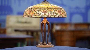 "Appraisal: 1906 Duffner & Kimberly ""Greek"" Lamp"