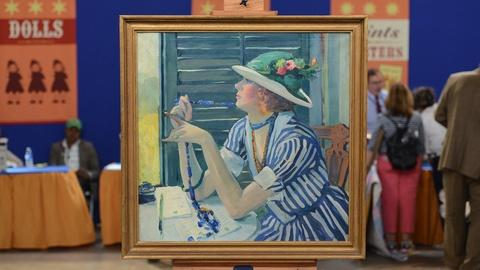 "Antiques Roadshow -- S19 Ep19: Appraisal: Jane Peterson ""The Answer"" Oil, ca. 192"