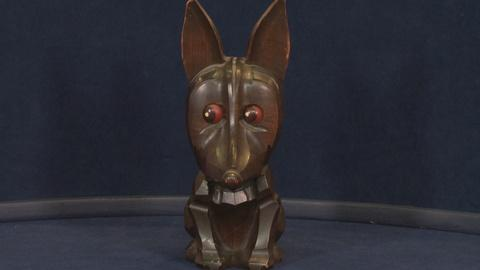 Antiques Roadshow -- S19: Web Appraisal: Carved Novelty Clock, ca. 1926