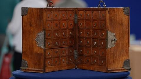 S24 E22: Appraisal: Chinese Export Huanghuali Cabinet, ca. 1735