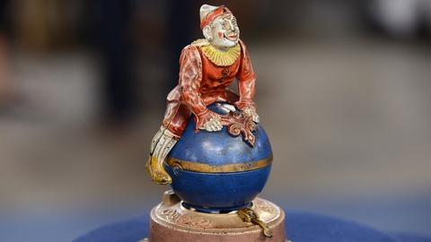 "Antiques Roadshow -- S19 Ep21: Appraisal: ""Clown on Globe"" Mechanical Bank, ca. 1"